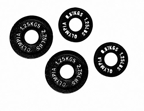 Black Olympic Plate- (0.5kg, 1.25kg) 1 pair each by Ader Fitness