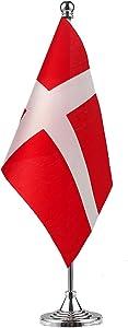 GentleGirl.USA Denmark Flag Dane Flag Table Flag,Desk Flag,Office Flag,International World Country Flags Banners,Festival Events Celebration,Office Decoration,Desk,Home Decoration