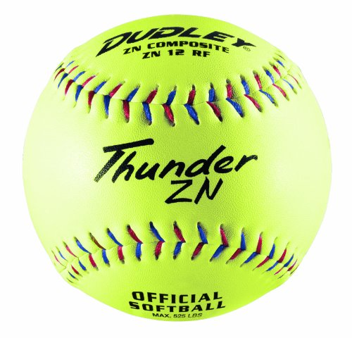 Dudley Composite Softballs - Dudley Non-Association Thunder ZN Slow Pitch Composite Soft Ball - Dozen