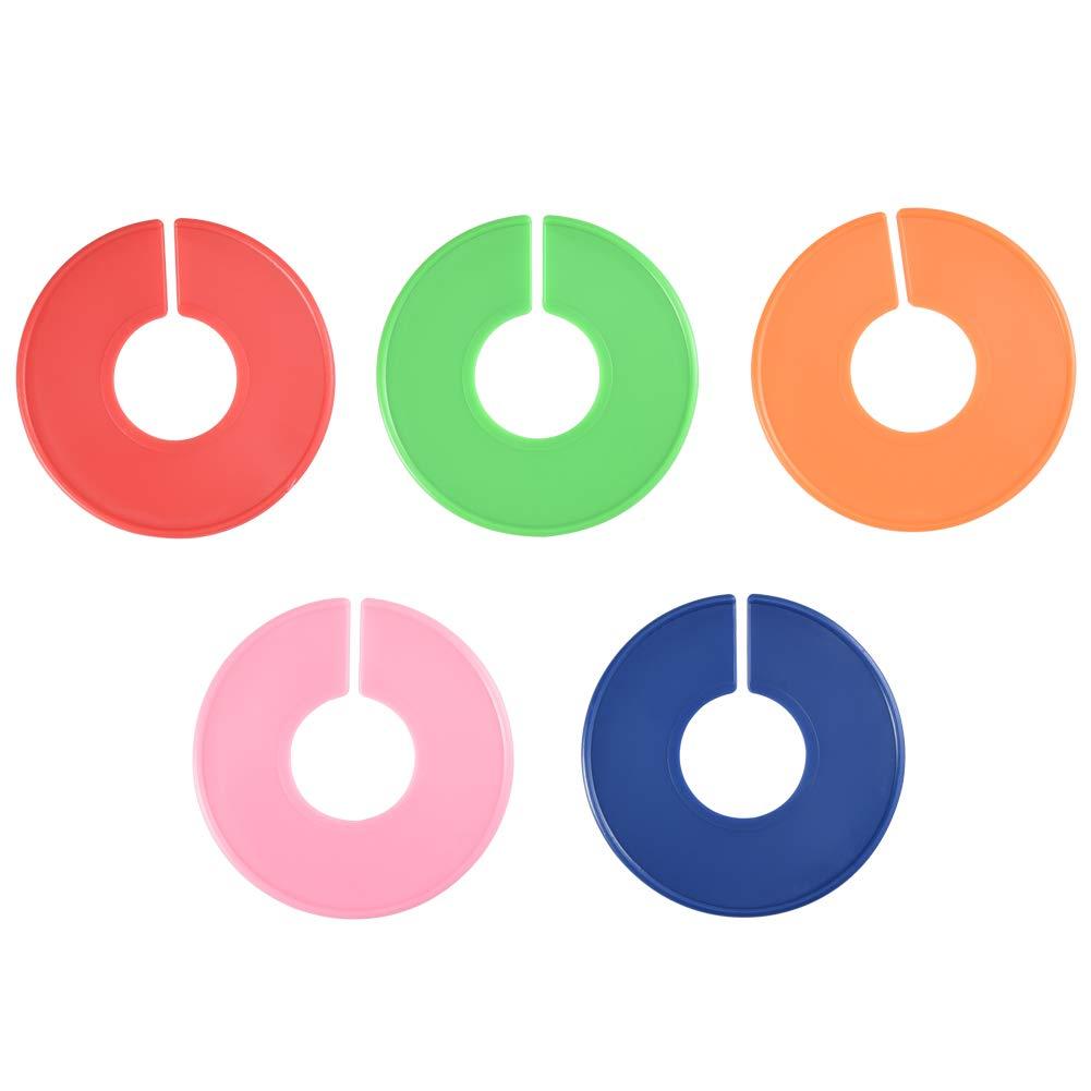 25Pz Divisori Rotondi Dividere Vestiti per Taglia Cizen Grucce Divisori per Vestiti di Bambino Ragazzo Ragazza 5 Colori