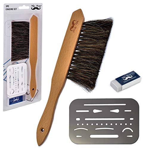 Mr. Pen- Drafting Brush, Eraser Shield, Eraser Artist, Dusting Brush, Desk Brush, Eraser Brush, Art Supplies, Drawing Tools for Drafting, Drafting Supplies, Drafting Dust Brush, Eraser Shield Drafting (Architecture Eraser)