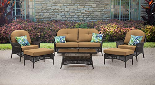 Hanover San Marino 6-Piece Seating Set Country Cork SMAR-6PC-TAN