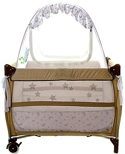 Best Travel Baby Crib Safety Tent Fits Pack N Play Tried and Tested - Safe and  sc 1 st  Amazon.com & Amazon.com : Baby Crib Tent Safety Net Pop Up Canopy Cover - Never ...