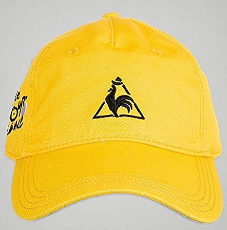 Le Coq Sportif - Gorra del Tour de Francia, color amarillo: Amazon ...