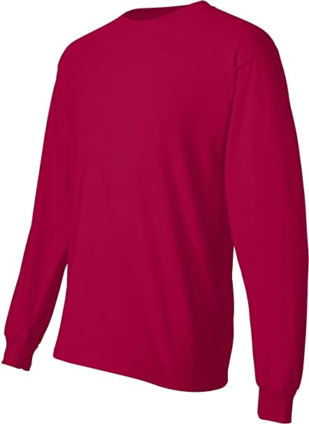 5affc973ca2b Amazon.com: Hanes Long Sleeve Beefy-T T-Shirts: Clothing