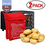 Microwave Potato Cooker Bag, ENGWEI 2-Pack Reusable-Machine Washable-Red Microwave Baking Fabric Pouch Perfect for Any Type of Potatoes Express Bake Just in 4 Minutes