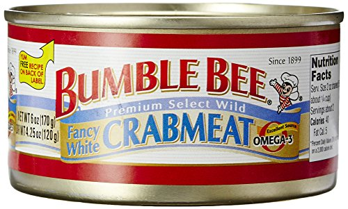 Bumble Bee, White Crabmeat, 6 oz
