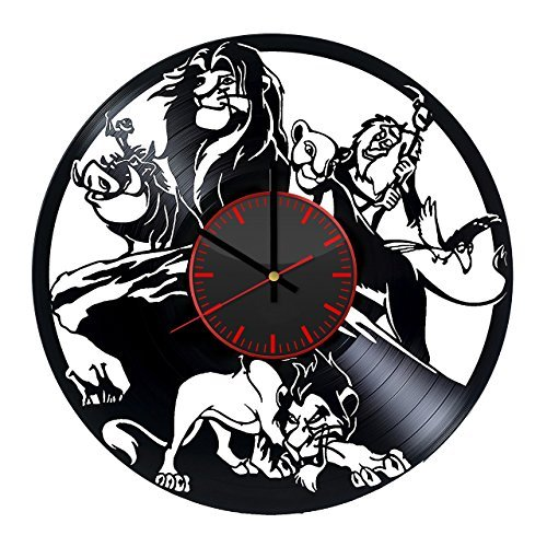 Taniastore The Lion King Disney Vinyl Record Wall Clock Unique Gifts for him her Gift Ideas for Mothers Day Father Birthday Anniversary Wedding Cute and Original Gifts for Everybody