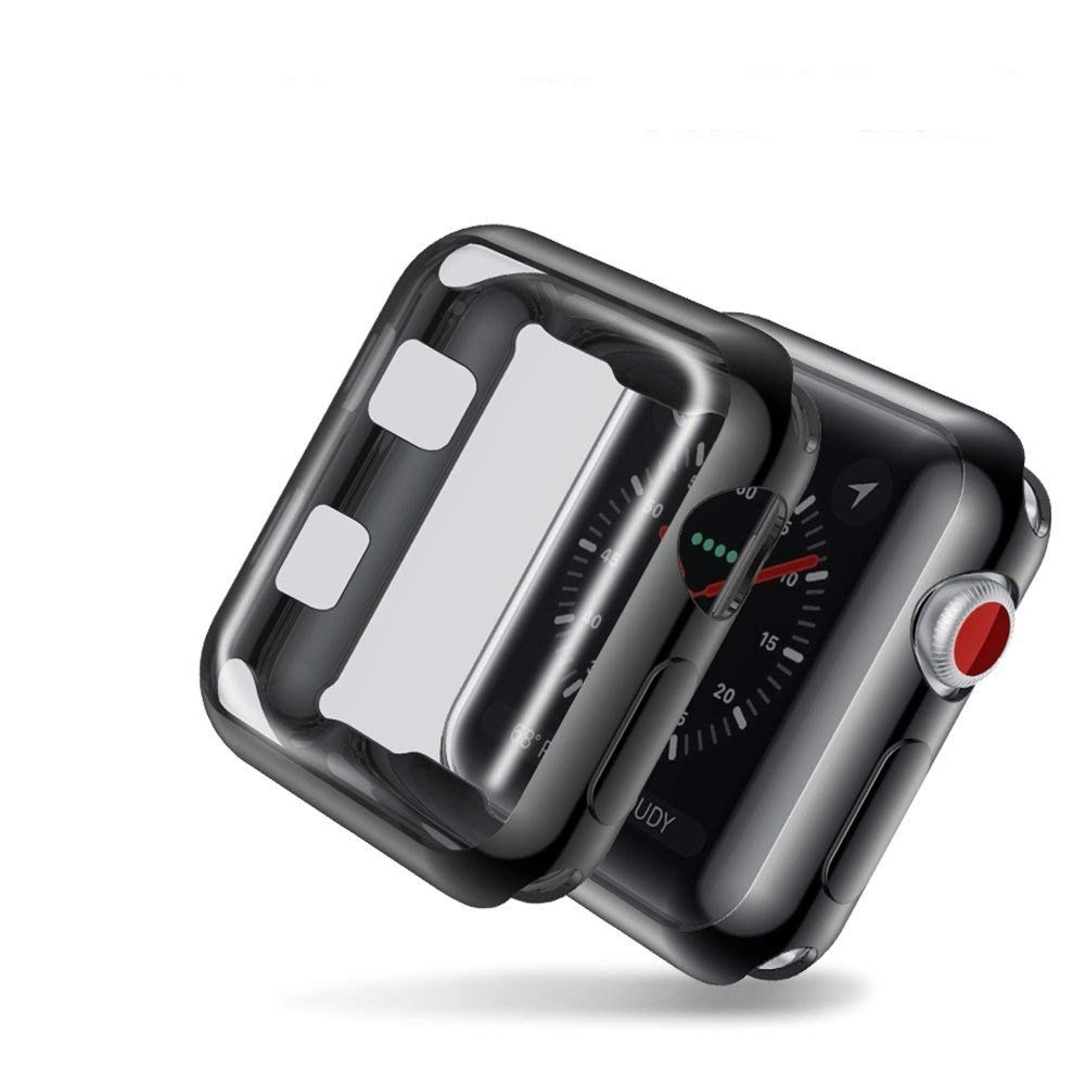 funda para apple watch serie 3 42 mm, negro