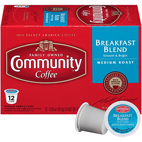 Community Coffee Breakfast Blend, Medium Roast, 36 Count Single Serve Coffee Pods, (3 Boxes of 12 Pods), Compatible with Keurig K-Cup Brewers