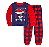PJ & ME Boys Thermal Top Flannel Pants I'll Be Good Next Year Skull Pajama Sleepwear Set (I'll Be Good Next Year, 6)