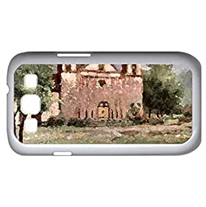 Old Mission Santa Barbara F1 (Religious Series) Watercolor style - Case Cover For Samsung Galaxy S3 i9300 (White)