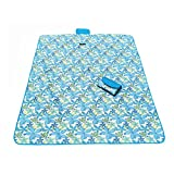 Picnic Blanket Large Travel Blanket with Waterproof Beach Blanket 57 X 71 Inch