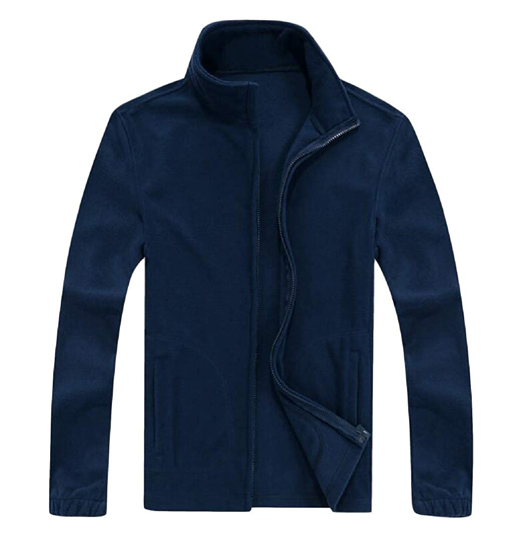 Etecredpow Mens Fleece Warm Slim Coat Big and Tall Jacket Sweatshirts