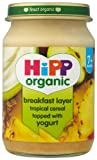 HiPP Organic Stage 2 From 7 Months Breakfast Duet Tropical Cereal with Yogurt 6 x 160 g (Pack of 2, Total 12 Pots)