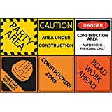 18 Construction Party 12'' Mini Posters, Construction Party Decorations, Construction Party Signs, Room Decorations, Boys Party Supplies