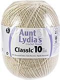 Aunt Lydia's 99798 Classic Crochet Thread Size 10 Jumbo 3/Pk-Natural, Pack