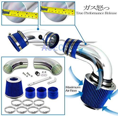 High Flow Sport Cold Air Intake Kit+Blue Filter 96-04 Chevrolet S10/96-05 Blazer PickUp with 4.3L V6 Engine