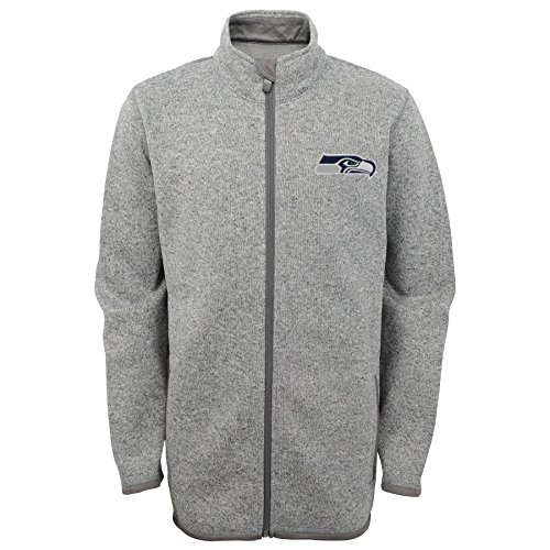 - NFL Seattle Seahawks Youth Boys Full Zip Sweater Knit Fleece Jacket, Medium (10-12), Dark Navy