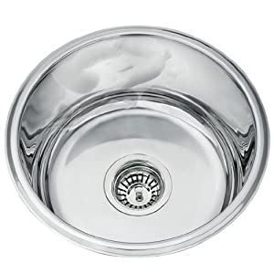 kitchen sinks round undermount polished stainless steel bowl l45a - Kitchen Sink Round
