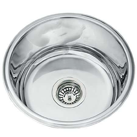 Kitchen Sinks Round Undermount Polished Stainless Steel Bowl (L45A)