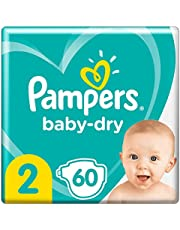 Pampers Baby-Dry Tape Diapers (4kg-8kg) Size 2 Infant, 60 count