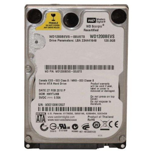 120Gb 2 5  Sata Hard Drive Western Digital Wd1200bevs