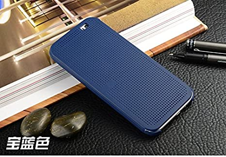 buy popular 79799 630e3 Dot View Case Cover for HTC One X9 htc one X9 Case Cover -Blue