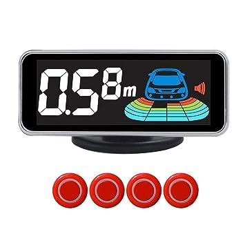 Kitabetty Sensores de Aparcamiento, Sistema de Alarma de Asistencia de estacionamiento de automóvil Digital con Detector de Radar de inversión de 4 sensores ...