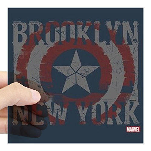 CafePress Captain America Brooklyn Di Square Sticker 3 X 3 Square Bumper Sticker Car Decal, 3