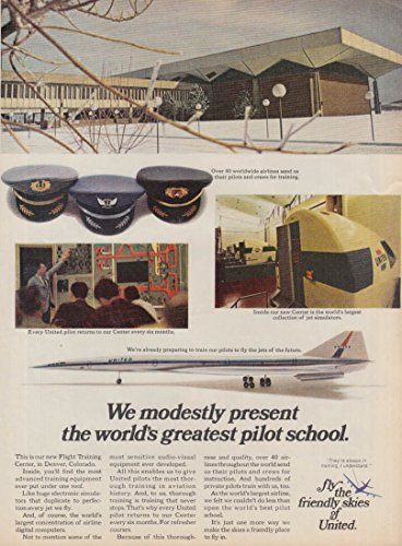 We modestly present world's greatest pilot school United Airlines SST ad 1969 by The Jumping Frog