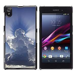 Shell-Star Art & Design plastique dur Coque de protection rigide pour Cas Case pour Sony Xperia Z1 / L39H / C6902 / C6903 / C6906 / C6916 / C6943 ( God Awe Inspiring Clouds Blue Sky )