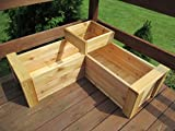 L-Shaped Multi-level Patio Garden Planter With Full Floor By Infinite Cedar