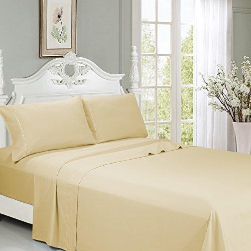 n Size Bed Sheets- Brushed Microfiber 2800 Bedding 18