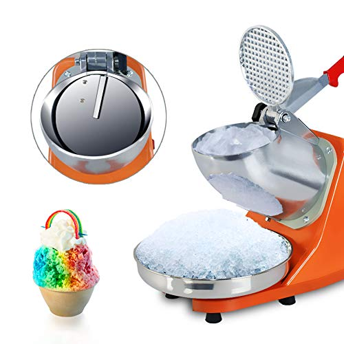 Oteymart 300W Electric Ice Shaver Machine Shaved Ice Snow Cone Maker Ice Crusher Stainless Steel Blade 143 lbs New