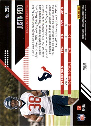 Amazon.com: 2018 Unparalleled Football Flight #290 Justin Reid Houston Texans Rookie RC Rookie NFL Trading Card made by Panini: Collectibles & Fine Art