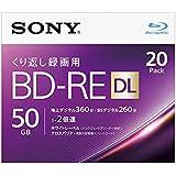 SONY ビデオ用ブルーレイディスク 20BNE2VJPS2(BD-RE2層:2倍速 20枚パック)