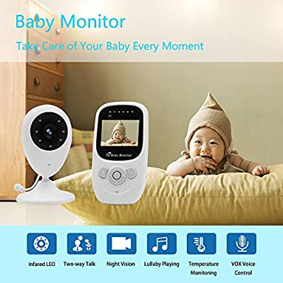 "Video Baby Monitor, SZXSDY Baby Monitor Video Two Way Baby Monitor with Camera Aan Audio 2.4"" Temperature Sensor, Auto Night Vision Baby Monitor Non WiFi"