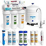 Express Water 5 Stage Undersink Reverse Osmosis Drinking Water Filtration System plus Extra Set of 4 Supreme Quality Replacement Filters - RO5DX