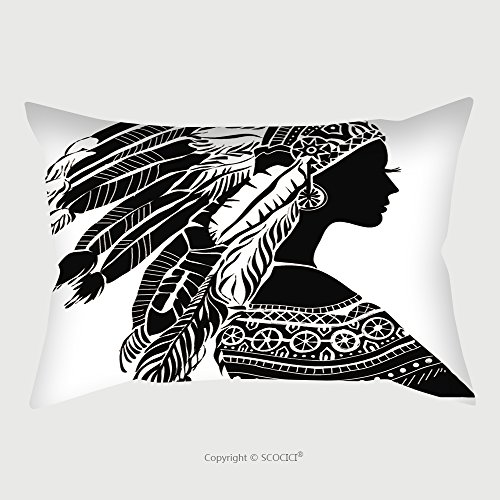 Diy Lion Costume Women - Custom Microfiber Pillowcase Protector Young Woman In Costume Of American Indian Silhouette Of Beautiful Indian Women 215508190 Pillow Case Covers Decorative