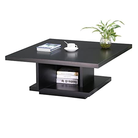 modern furniture post modern wood furniture. Tinkertonk Modern Wood Square Coffee Table With Center Post Storage Cabinet For Living Room Furniture O