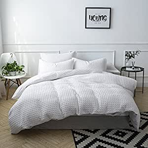 Amazon Com Merryfeel 100 Cotton Waffle Weave Duvet Cover