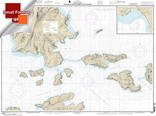 NOAA Chart 16478: Tagalak Island to Great Sitkin Island; Sand Bay-Northeast Cove 21.00 x 28.16 (SMALL FORMAT WATERPROOF)