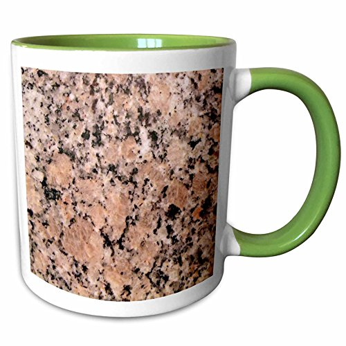 Two Tone Granite Green - 3dRose Dawn Gagnon Photography Designs - Print of Granite Image - 11oz Two-Tone Green Mug (mug_181866_7)
