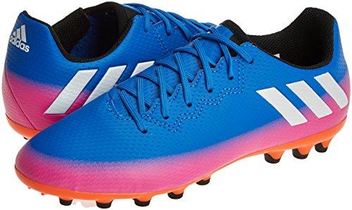 adidas MESSI 16.3 AG J - Botas de fútbol Línea Messi para niños, Azul - (AZUL/FTWBLA/NARSOL), -33