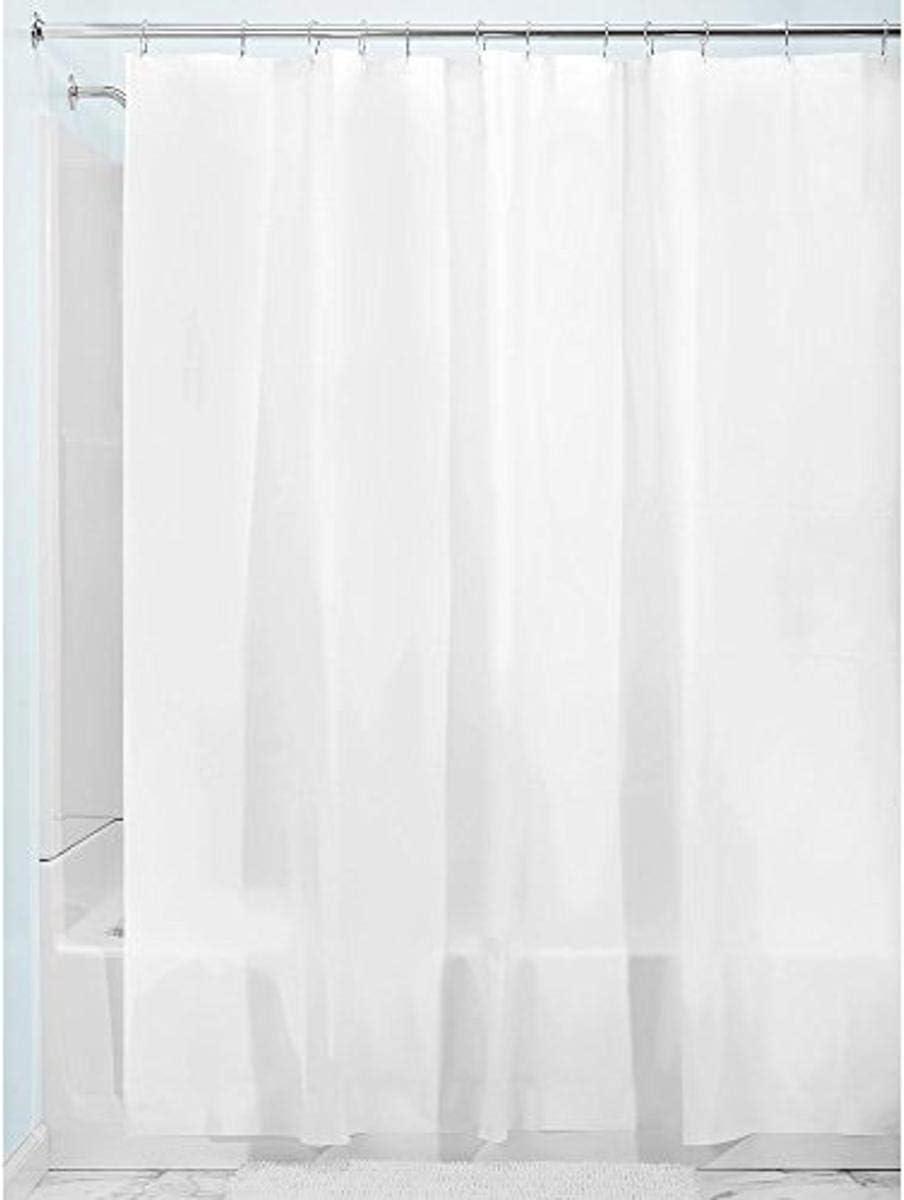 InterDesign Mildew-Free PEVA 3 Gauge Shower Liner, White, 72 Inch x 72 inch