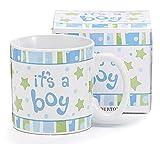 Burton & Burton 9729806 Its a Boy Mug Ceramic Decal, Blue and Green