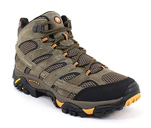 Merrell Men's Moab 2 Vent Mid Hiking Boot, Walnut, 10.5 2E US (High Hill Work Boots)
