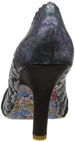 Irregular Choice Smartie Pants - Tacones Mujer Black (Black Metallic)