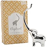 ELEPHANT Jewellery Ring Holder Ornament Silver Plated + Crystal Eyes *BOXED* by CGB